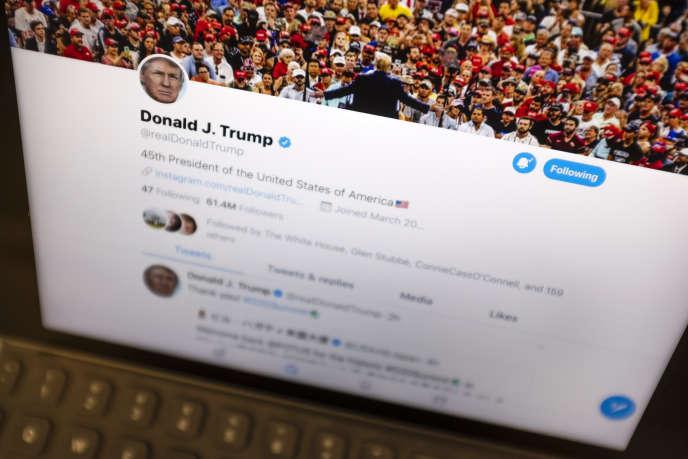 Le compte personnel du président Trump, le 27 juin.