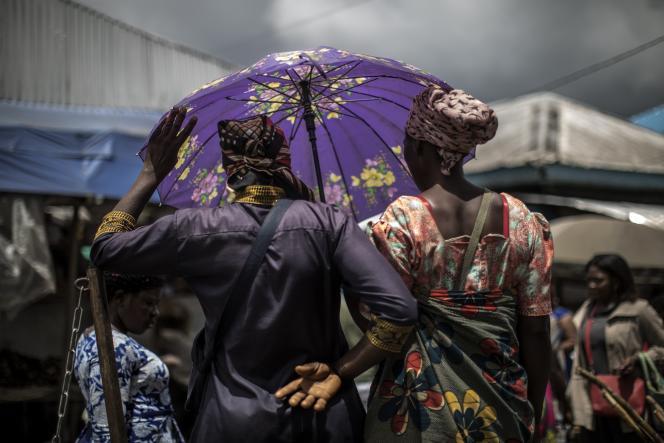 Dans un marché de Buéa, au Cameroun, en octobre 2018.