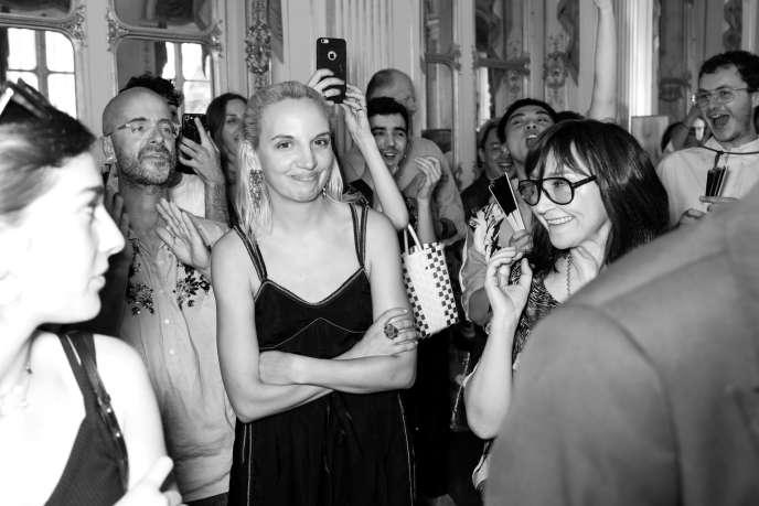 Christelle Kocher,lauréate du Grand Prix de l'Association nationale pour le développement des arts de la mode, le 27 juin.