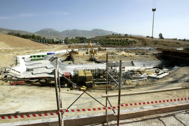 Le site d'Hellinikon, photographié en 2003, et qui a notamment accueilli des infrastructures pour les Jeux olympiques de 2004, est sur la liste des biens à privatiser.