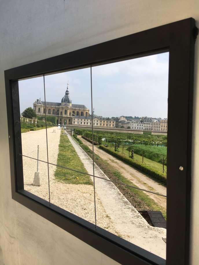 Dispositif visuel conçu par l'architecte et paysagiste Alexandre Chemetoff pour la manifestation «Le Goût du paysage», au Potager du roi, à Versailles.