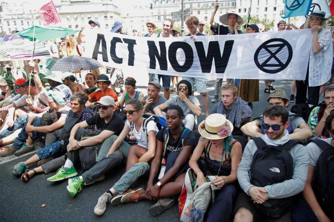 Manifestation pour le climat, à Paris, le 28 juin.