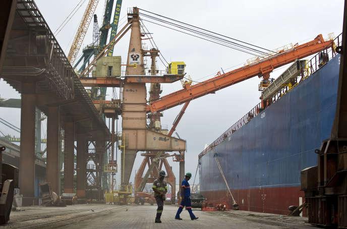 Le port commercial de Santos, près de Sao Paulo au Brésil, en 2013.
