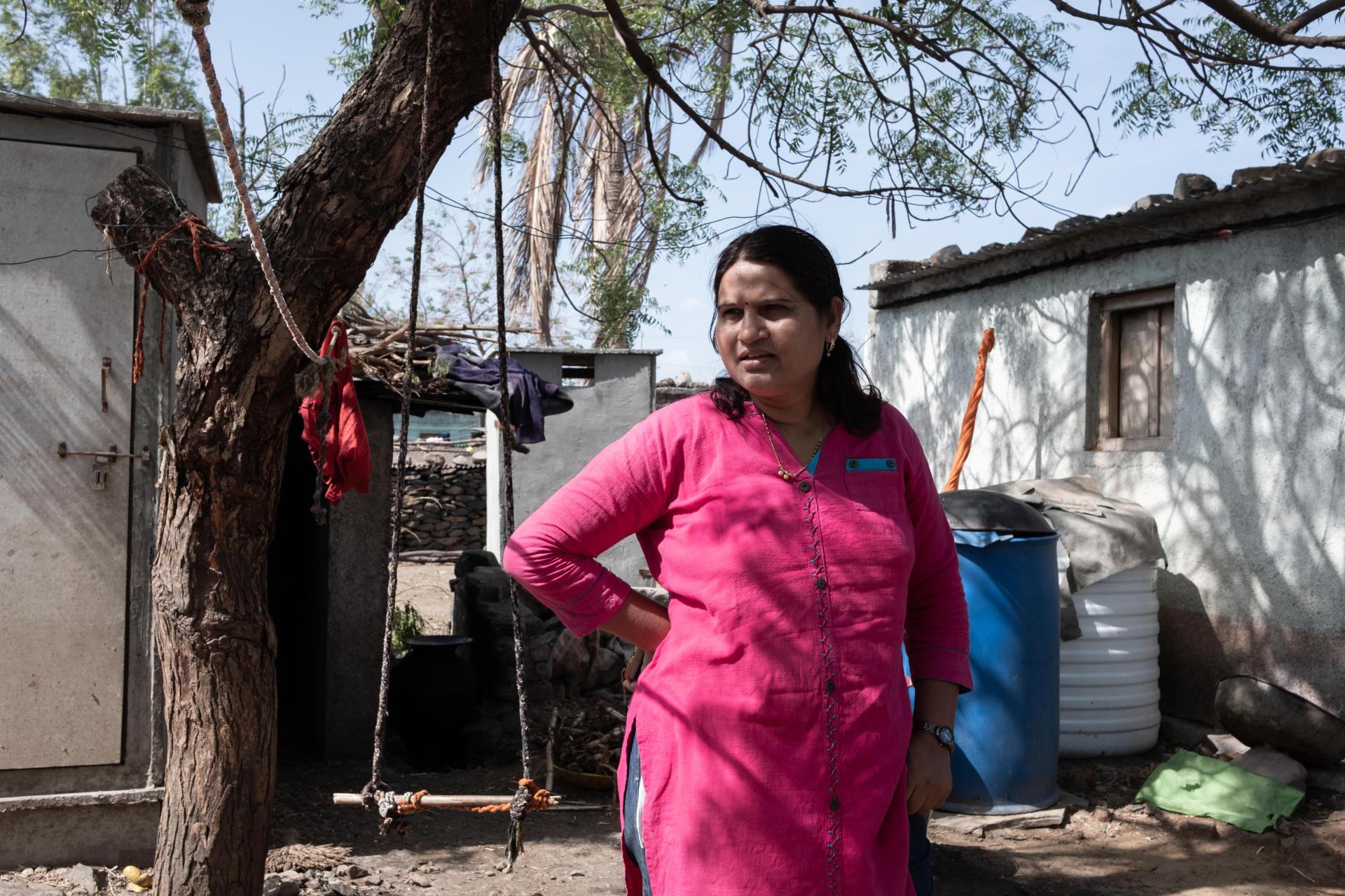 Chaya Kakade dans le village de Kumta, dans la région de Marathwada, en Inde, le 15 juin.