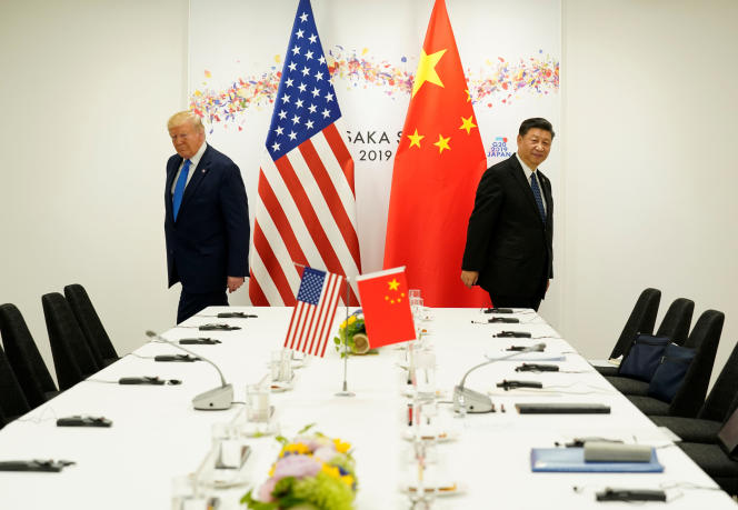 Le président américain Donald Trump et son homologue chinois Xi Jinping, le 29 juin à Osaka.
