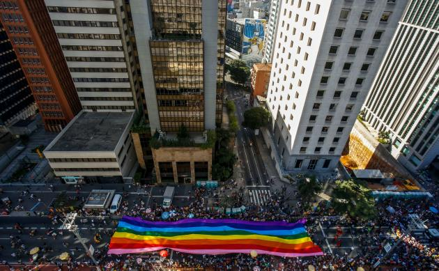 A Sao Paulo, au Brésil, le 23 juin.