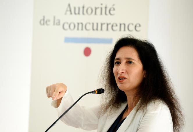 La présidente de l'Autorité de la concurrence, Isabelle de Silva, en juillet 2017, à Paris.