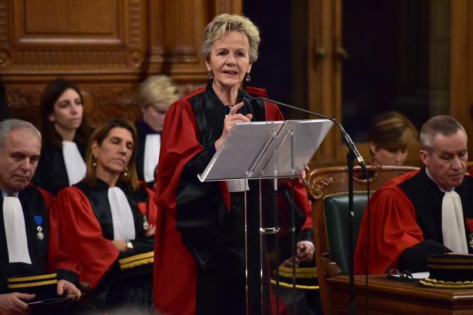 Eliane Houlette, ex-patronne du Parquet national financier, au tribunal de grande instance de Paris, en janvier 2017.