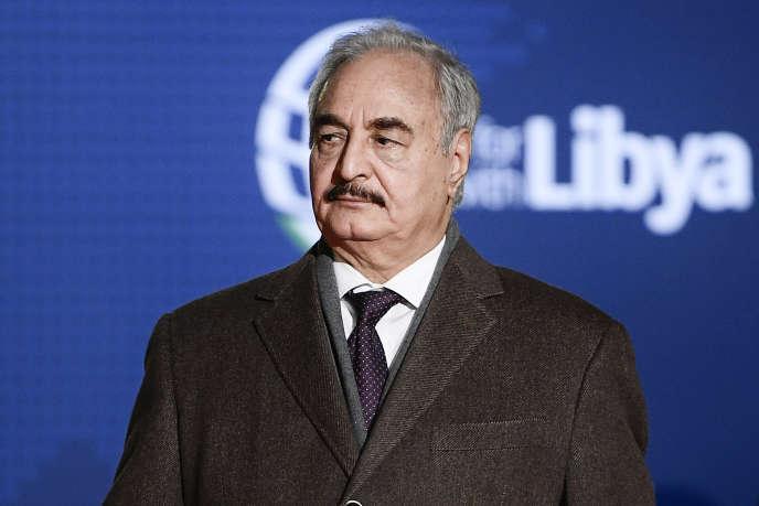 Le maréchal Khalifa Haftar, le 12 novembre 2018 à Palerme.