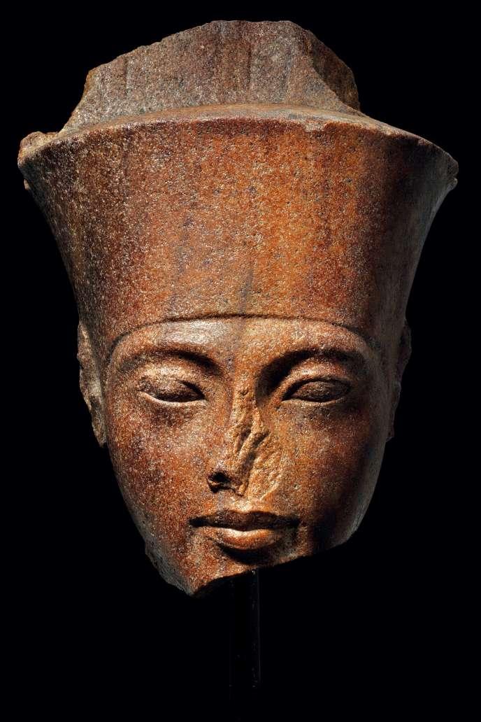 Buste de Toutankhamon en quartzite, datant de plus de 3000 ans et estimé à 4,5millions d'euros, doit être vendu aux enchères à Londres, le 4 juillet 2019.