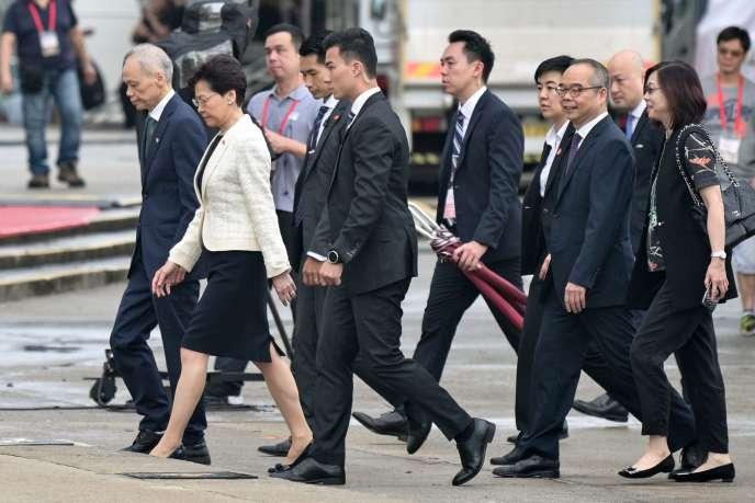 La chef de l'exécutif, Carrie Lam, le 1er juillet à Hongkong.