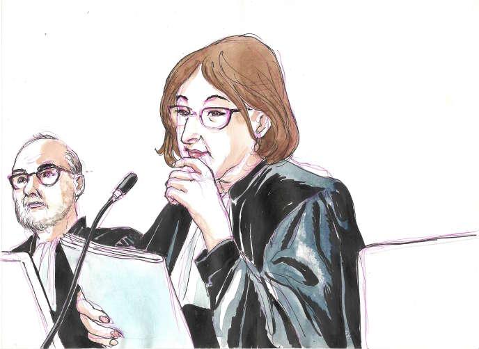 La présidente du tribunal correctionnel de Paris lors du procès de France Télécom, Cécile Louis-Loyant.