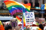 Manifestation en faveur de la PMA, lors de la Gay Pride, à Paris, le 29 juin 2019.