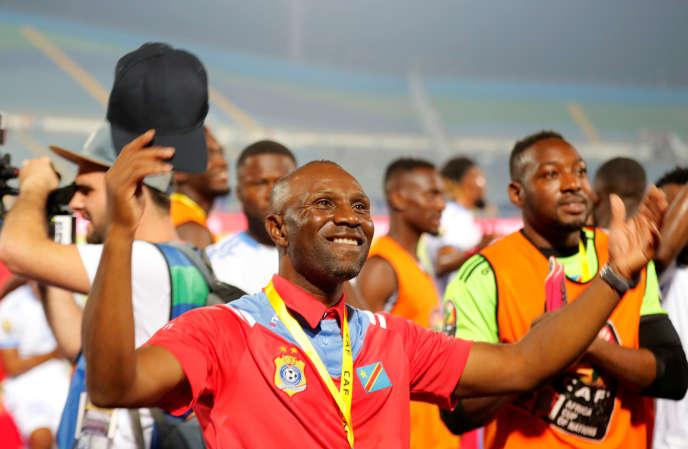 Le sélectionneur Florent Ibenge après la qualification de la RDC pour les huitièmes de finale de la CAN, au Caire, le 30 juin 2019.