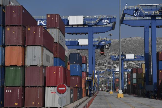 Sur les quais du port du Pirée, le 18 octobre 2018.