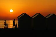 Coucher de soleil à Cayeux-sur-Mer, le 29 juin.