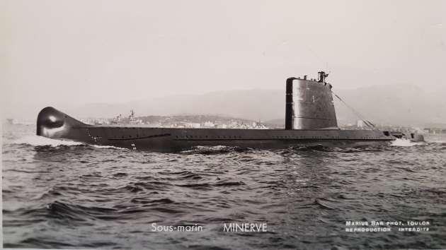 Le sous-marin «Minerve».
