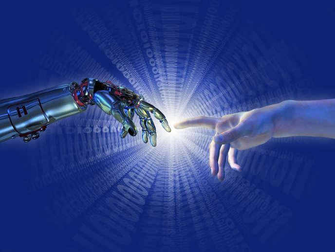 """«Ultime étape (peut-être) pour que l'homme ne soit plus le maillon faible du système, il est envisagé que la machine le remplace pour décider et agir pendant que la microélectronique et la biologie """"l'augmenteront"""".»"""