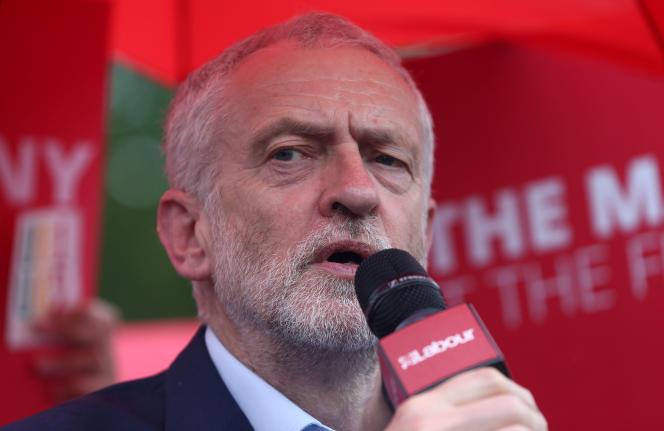 Jeremy Corbyn, le leader du Parti travailliste, à Londres le 18 mai, est régulièrement confronté à des accusations d'antisémitisme.