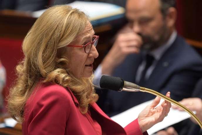 La ministre de la justice Nicole Belloubet, à l'Assemblée nationale, le 18 juin 2019.