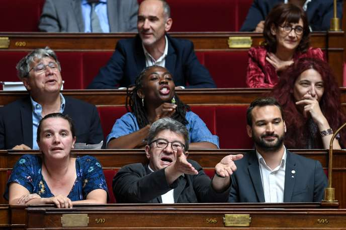 Jean-Luc Mélenchon, à l'Assemblée nationale, à Paris, le 2 juillet.