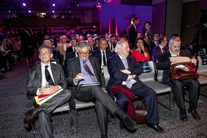 Nicolas Sarkozy lors d'une assemblée générale du groupe Accor