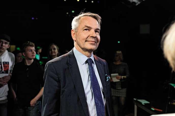 Le nouveau ministre finlandais des affaires étrangères Pekka Haavisto, le 26mai à Helsinki. Patron de la Ligue verte, ce pionnier de l'écologie a permis à son parti de battre des records lors des dernières élections législatives et européennes.