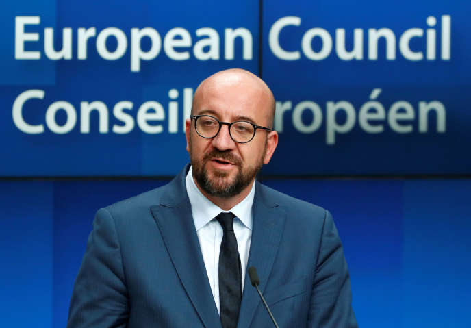 Le premier ministre belge Charles Michel à Bruxelles le 2 juillet 2019.