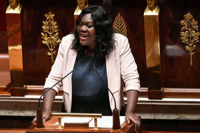 La députée (LRM) Laetitia Avia à l'Assemblée nationale, le 3 juillet.