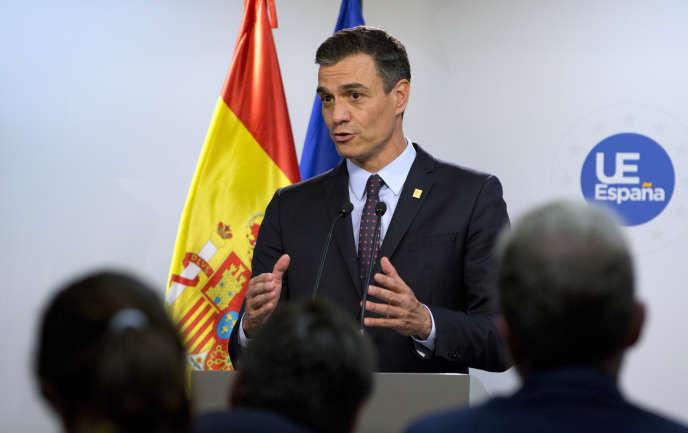 Le président du gouvernement espagnol, Pedro Sanchez, le 2 juillet à Bruxelles.