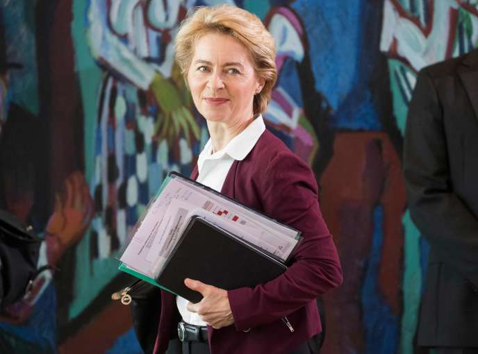 La ministre allemande de la défense, Ursula von der Leyen, à la Chancellerie, à Berlin, le 12 juin.