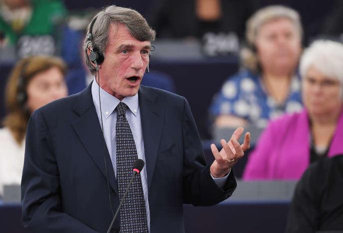 Agé de 63 ans, David Sassoli siège depuis 2009 au Parlement de Strasbourg.