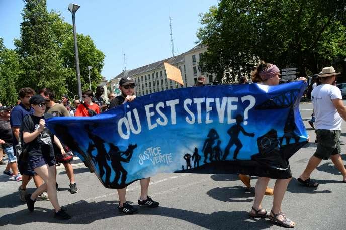 Marche pour Steve Maia Caniço, à Nantes, le 29 juin.
