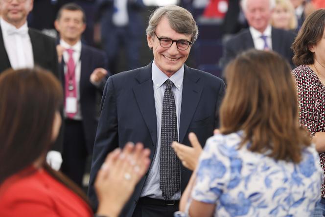 Le président du Parlement européen, David Maria Sassoli, en juillet 2019.