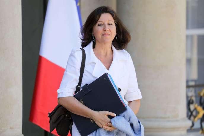 La ministre des solidarités et de la santéAgnès Buzyn, le 3 juillet, devant l'Elysée.