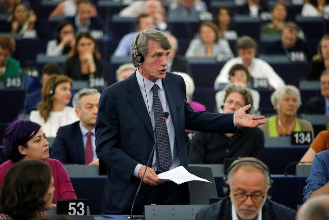 David Sassoli au Parlement européen de Strasbourg, le 3 juillet.