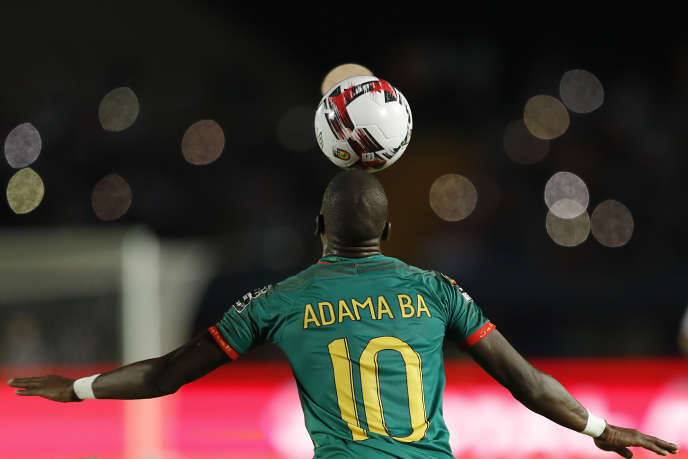 Adama Ba, joueur de l'équipe de Mauritanie lors du match contre la Tunisie, le 2 juillet 2019 pour la CAN en Egypte.