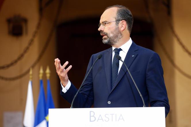 Le premier ministre, Edouard Philippe, à Bastia le 3 juillet.