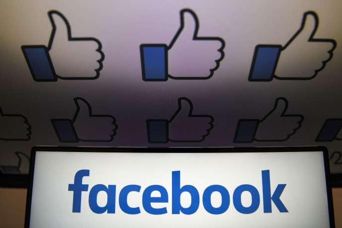 Le logo du réseau social américain Facebook, créé en 2004 par Mark Zuckerberg.