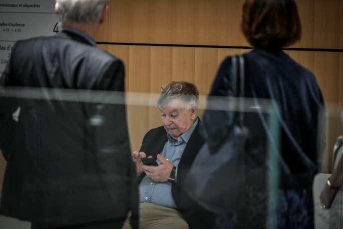 L'ancien PDG de France Télécom Didier Lombard lors du procès de l'entreprise à Paris, le 4 juillet 2019.
