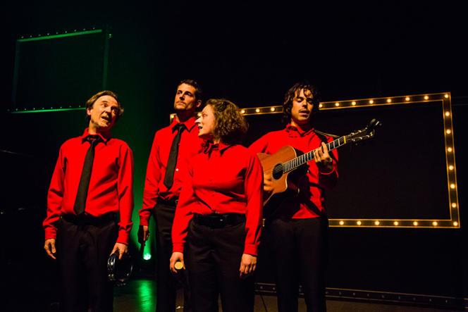 Le quatuor des Goguettes au Café de la danse à Paris en mars 2019.