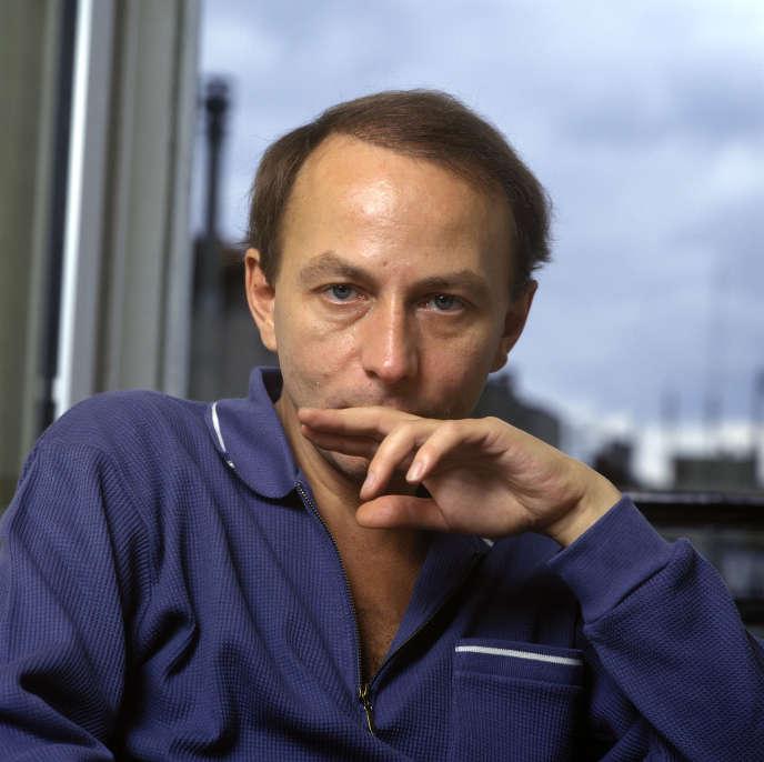 Portrait de Michel Houellebecq dans les années 1980.