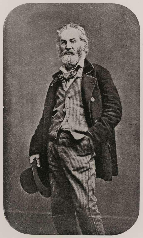 Le poète américain Walt Whitman, vers 1848-1850.