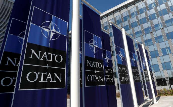 Au siège de l'OTAN, le 19 avril, à Bruxelles.