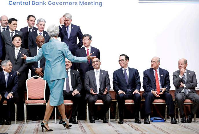 Christine Lagarde lors d'une réunion rassemblantministres de la finance et leaders des banques centrales, au G20 à Fukuoka (Japon), le 9 juin.