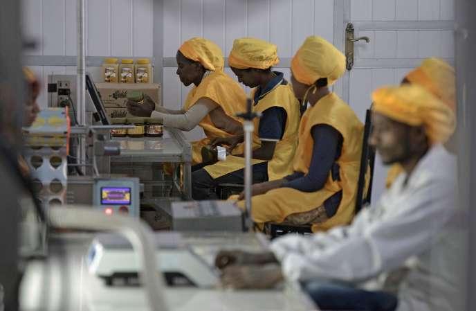 Une usine de miel à Mekele, le 30 mars 2017.