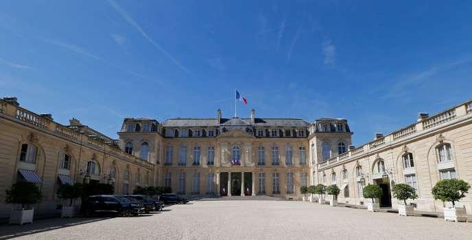 Vue d'ensemble du Palais de l'Elysée, à Paris le 5 juillet 2019.