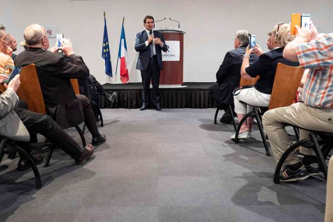 Christian Jacob, député et candidat à la présidence de LR, en meeting à Saint-Etienne, le 26 juin.
