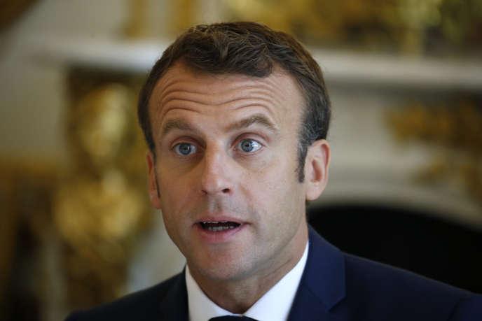 Emmanuel Macron à l'Elysée, le 5 juillet.