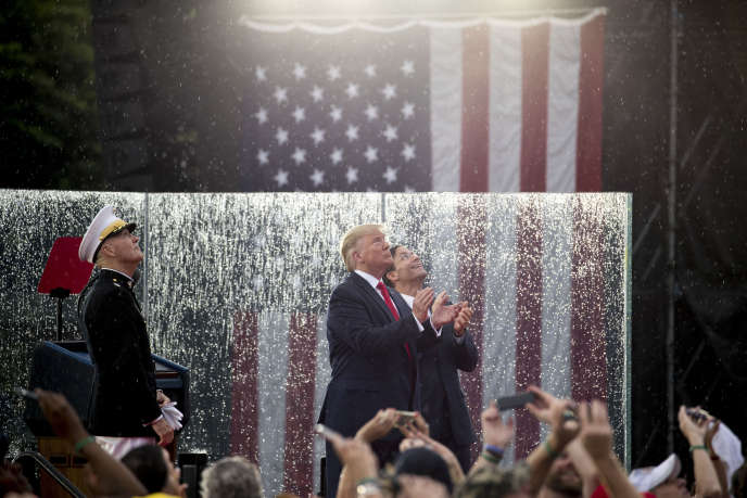 Donald Trump lors du défilé aérien organisé pour la fête nationale américaine, à Washington le 4 juillet.